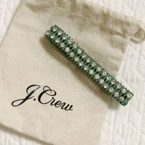 J Crew Crystal and Metal Chain Bracelet